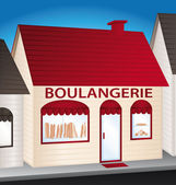 Boulangerie. French convenience shop. — Stock Vector
