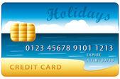 Holidays credit card vector illustration — Stock Vector