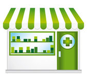 Pharmacy. Convenience store. — Stock Vector