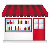 Vintner. Vector store. — Stock Vector