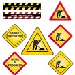 Under construction or work in progress road signs. Icons set. — 图库矢量图片 #40466137