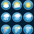 Weather icons. Vector set II. — Stock Vector