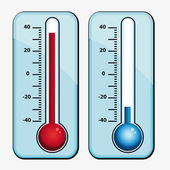 Thermometers. Icons set. — Stock Vector