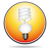Saving lightbulb vector icon — Stock Vector