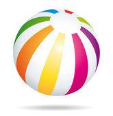 Beach ball. Summer holidays vector icon. — Stock Vector