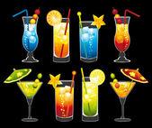 Cocktails set. — Stock Vector