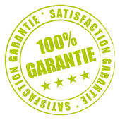 Tampon vert satisfaction qualité garantie. — Vector de stock