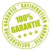 Tampon vert satisfaction qualité garantie. — Stok Vektör