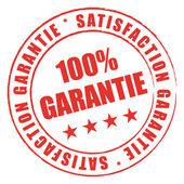 Tampon rouge satisfaction qualité garantie. — Vector de stock