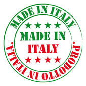 Made in Italy stamp. — Stock Vector