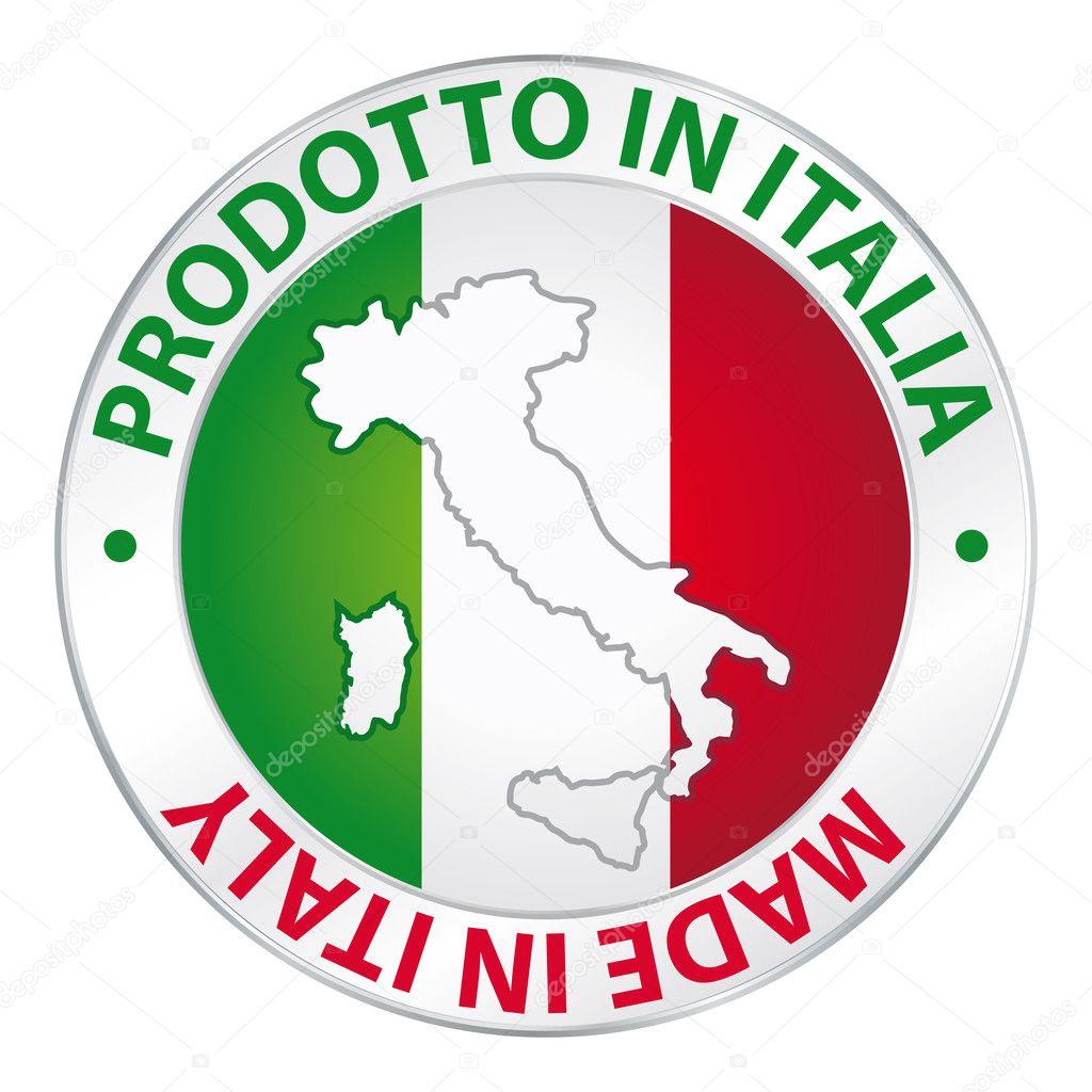 Made in italy prodotto in italia label product stock for Made com italia