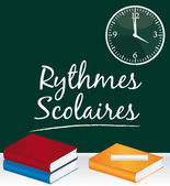 Rythmes scolaires — Stock Vector
