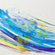 Watercolor Blue Abstract Background - Stok fotoğraf