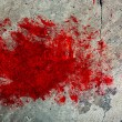 Grunge Concrete Wall with Red Splash - Stock Photo