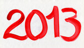 New Year 2013 Watercolor Card — Stock Photo