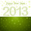 Green New Year 2013 Card — Stock Vector