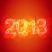Red New Year 2013 Card — Stock Vector