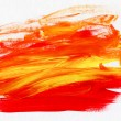 Acrylic Red and Yellow Abstract Background — Stock Photo