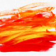 Acrylic Red and Yellow Abstract Background - Stock Photo