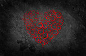 Beautiful Red Heart on Black Background — Stockfoto
