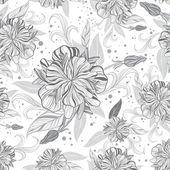 ベクターの花柄のシームレスなパターン — ストックベクタ