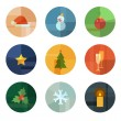 Christmas icons — Vector de stock #33206363