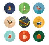 Julen ikoner — Stockvektor