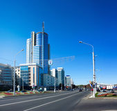 Pobediteley Avenue in Minsk, Belarus — Stock Photo
