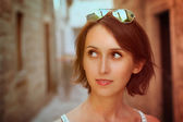Toned Photo of Trendy Young Woman — Стоковое фото