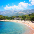 Luxury Beach and Hotel in Montenegro at Adriatic Sea — Stock Photo