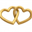 Golden hearts — Stock Photo #27937825