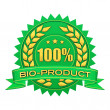 Bio-product label — Stockfoto