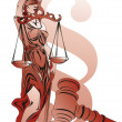 Lady Justice and paragraph symbol — Stock Photo