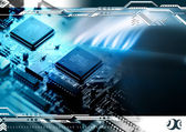Abstract technology background — Stock Photo