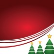 Shining christmas tree with lines and greeting — Stock Photo