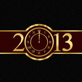 New year 2013 concept with clock — Zdjęcie stockowe