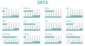 Calendario europeo 2013 anno — Foto Stock