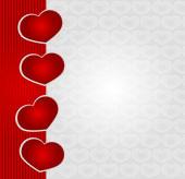 Cartão de dia dos namorados romântico com corações — Fotografia Stock