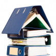 House shape made from many business documents - Photo