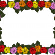 Wedding frame from flowers — Stock Photo