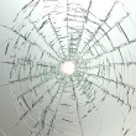verre cassé voiture de pare-brise — Photo #2926778