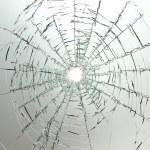 Broken car glass of windscreen — Stock Photo #2926778