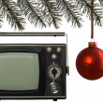 Christmas frame and old tv — Stock Photo #2948934