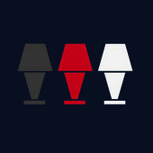 Three different color lamps — Foto de Stock