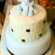 Celebration cake with elephant figure — Stok Fotoğraf #34255323