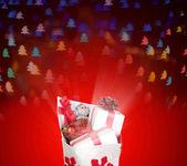 Christmas bag with presents — Φωτογραφία Αρχείου