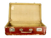 Vintage old brown suitcase — Foto de Stock