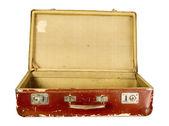 Vintage old brown suitcase — Stok fotoğraf
