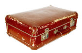 Vintage old brown suitcase — Stock Photo