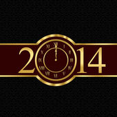 New year 2014 concept with clock — Stock Photo